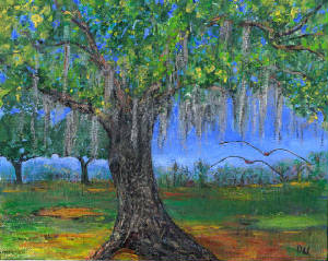 Oak Tree,  Florida $90 unframed